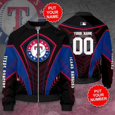 Personalized TEXAS RANGERS MLB Baseball TR Bomber Jacket