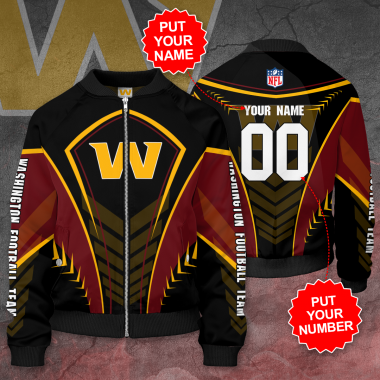 Personalized WASHINGTON FOOTBALL TEAM NFL Bomber Jacket