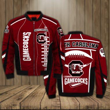 South Carolina Gamecocks Basketball team NCAA Red Bomber Jacket Apparel Bomber Jacket Size S-5XL