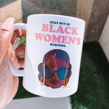Stay out of black women's Business Mug, travel Mug