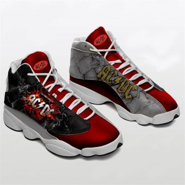 Acdc Rock Band Form Air Jordan 13 Sneakers Hard Rock Acdc Shoes