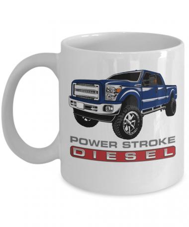 Blue Truck Diesel Mug, Coffee Mug