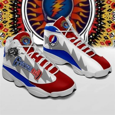 Grateful Dead Form Air Jordan 13 Sneakers Shoes