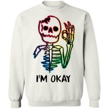 Skeleton Tattoo I'm Okay Shirt
