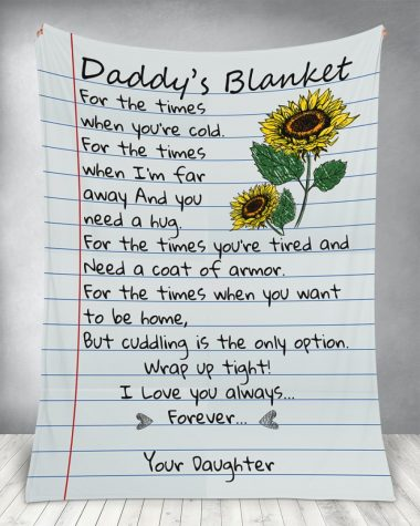 Daddy's Blanket for the times when you're cold Fleece Blanket