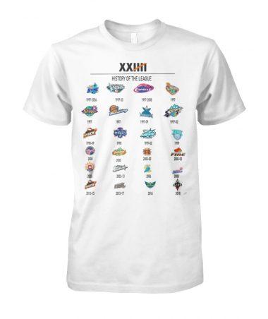 XXIIII History of the League T-shirt