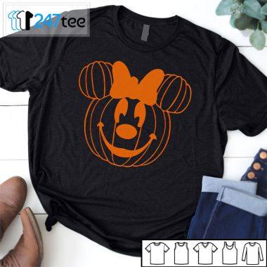 Minie Mickey pumpkin face halloween Shirt