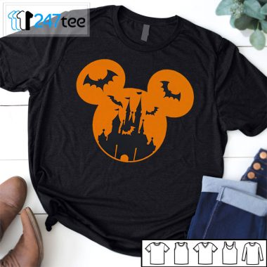 Mickey mouse castle grow in dark halloween Shirts