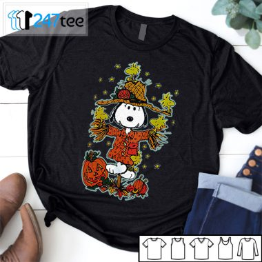 Peanuts snoopy scare crow and Woodstock Shirt