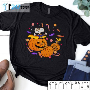 Snoopy and pumpkin funny not so scary party Halloween Shirt