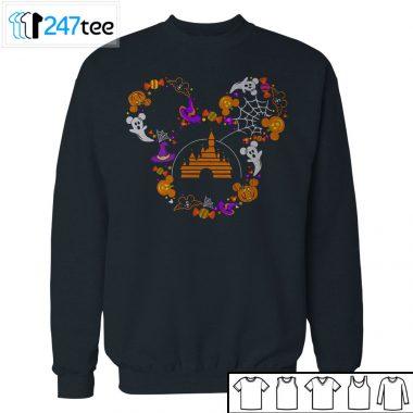 mickey mouse face disney castle Halloween Shirt
