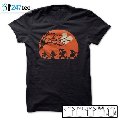 Mickey and friends Trick or cheat under light of mouse face moon halloween Shirt