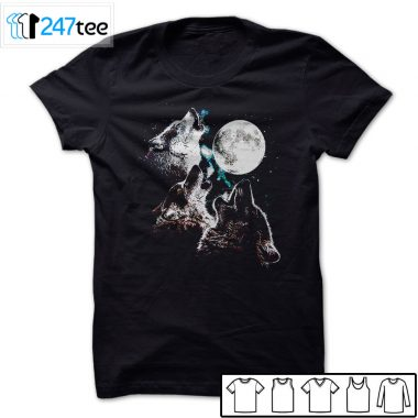3 three wolf moon mountain night men Shirt, Hoodie