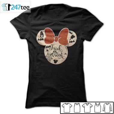 Mickey Minnie Mouse glitter disney halloween Shirts