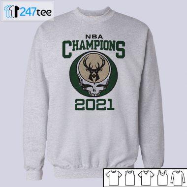 2021 NBA Champions Grateful Dead Milwaukee Bucks T-Shirt