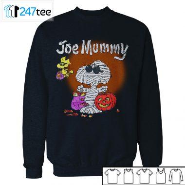 Peanuts Snoopy Woodstock 1990s Vintage Joe Mummy Halloween Shirt