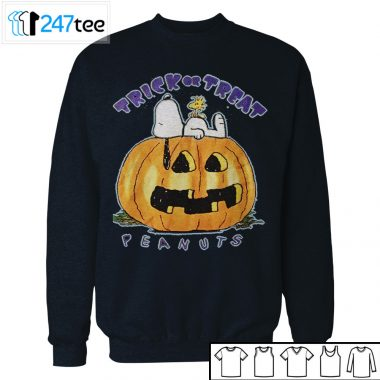 Snoopy lie on Pumpkin Tee Trick or Treat Halloween Shirt