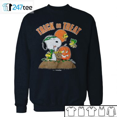 Snoopy peanut and Woodstock Trick Or Treat Halloween Shirt