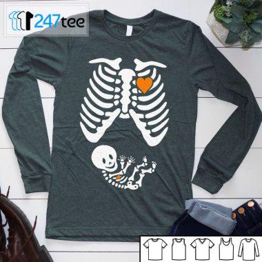 Skeleton Maternity pregnancy halloween Shirt