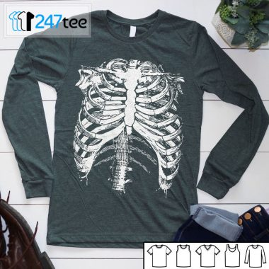 Skeleton Rib Cage halloween Shirt