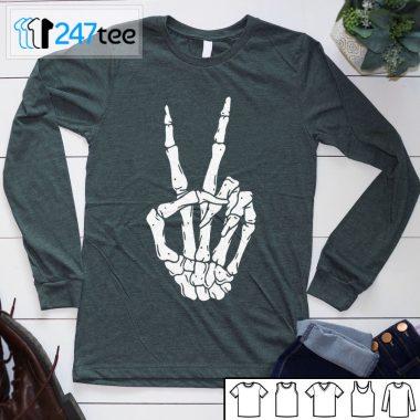 Skeleton hand Punk Rock Halloween shirt