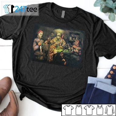 Freddy Kruger, Jason, Chucky, Michael Meyers, Scream Poker Game Horror Halloween T-shirt