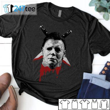 Michael Myers Double Knives Scary Halloween T-shirt, Sweatshirt, Hoodie