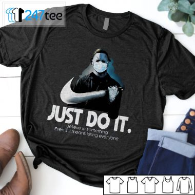 Michael Myers Just Do It Nike Inspired Halloween t-shirt