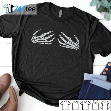 Skeleton Boob Hands halloween Shirt