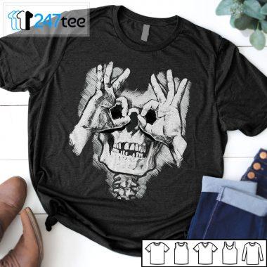Skeleton skull Goth halloween shirt