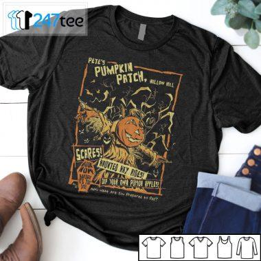 Pumpkin PETES PUMPKIN PATCH hollow hill T-shirt