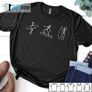 surfing skeleton shirt
