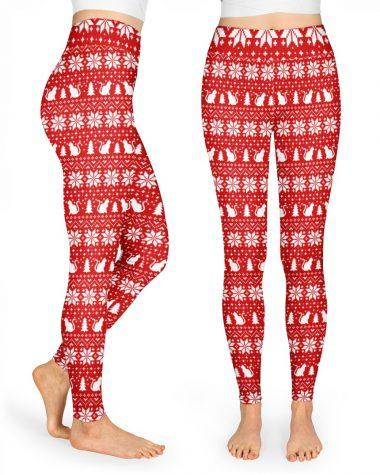 Cat Christmas Legging High Waist Leggings for girls, Best legging for Women