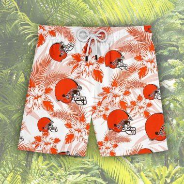 Cleveland Browns hawaiian shirt, Beach Short