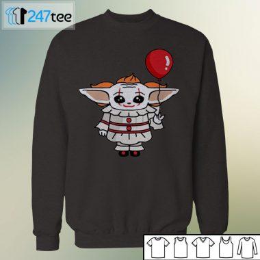 Baby Yoda Clown Halloween Shirt