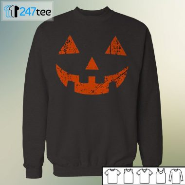 Pumpkin tee face halloween shirt