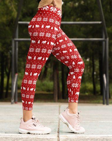 Dog Lover Bulldog Christmas Legging High Waist Leggings for girls, Best legging for Women