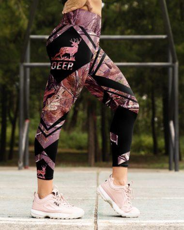 Hunting Gift Deer High Waist Leggings for girls, Best legging for Women