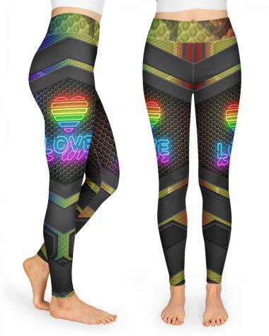 LGBT Lesbian Gift Love Is Love High Waist Leggings for girls, Best legging for Women