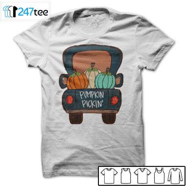 Pumpkin Pickin Truck halloween T-shirt