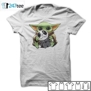 baby Yoda Hug Jack Skellington Halloween Shirt