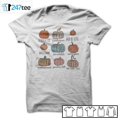 pumpkin varieties halloween shirt