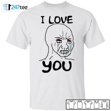 Simp i love you funny crying wojak meme shirt, Long Sleeve, Hoodie