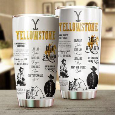 Yellowstone TV Tumbler 20oz 30oz