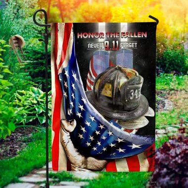 343 Firefighter Honor the Fallen Never Forget 911 Flag 911 Memorial American Garden Flag