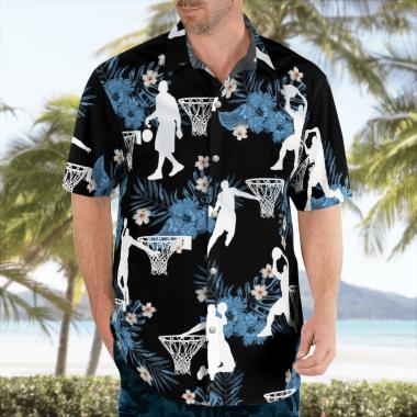 Basketball Hawaiian Shirts, Beach Short
