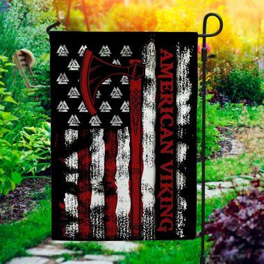 American Viking Decorative Garden Flag, House Flag Viking American Flag