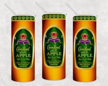 Apple Crown Royal Inspired Skinny Tumbler 20oz 30oz