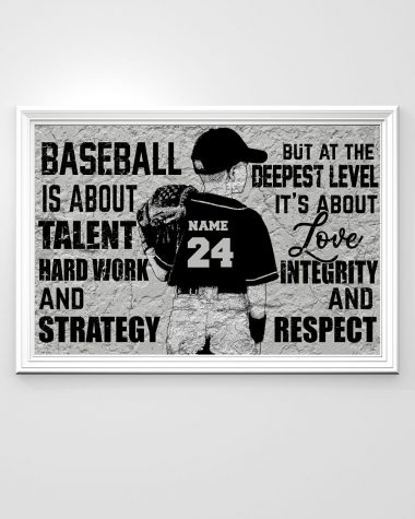 Baseball is about talent hard work and Strategy Doormat