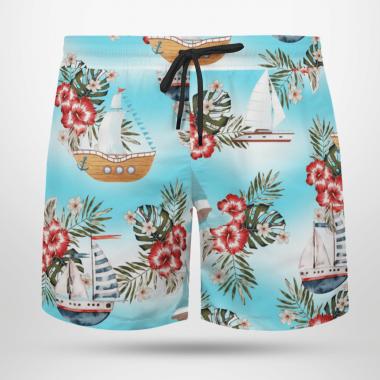 Boating Hawaiian Shirts, Beach Short